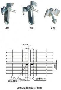 钢格板安装夹,钢格栅安装夹,格栅板安装夹科迈18730802592